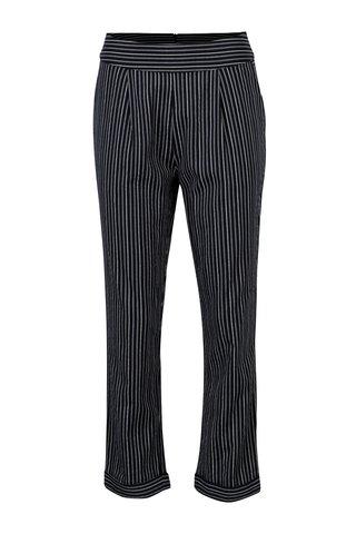 Pantaloni cropped bleumarin in dungi Yerse