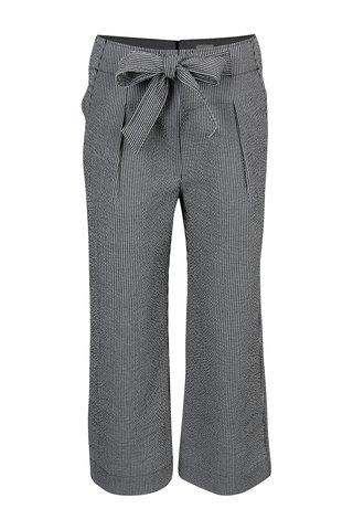 Bílo-černé pruhované culottes kalhoty Yesre