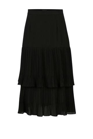 Černá plisovaná midi sukně Yesre