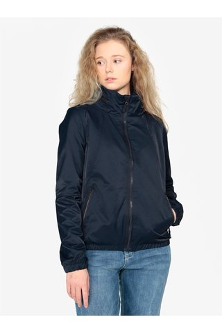 Jacheta bleumarin cu gluga ascunsa pentru femei - QS by s.Oliver