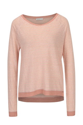 Bluza asimetrica roz pal in dungi Yesre