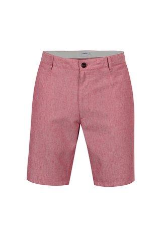Pantaloni scurti roz din amestec de in pentru barbati - Farah Hawk