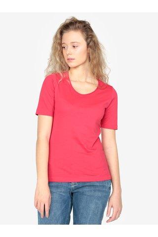 Tricou basic roz pentru femei - s.Oliver