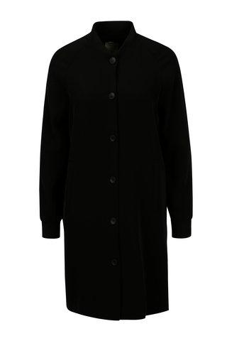 Černý lehký kabát s rozparky Yerse