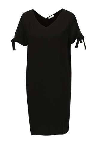 Černé šaty s véčkovým výstřihem Yerse