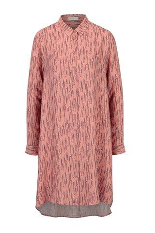 Korálové vzorované košilové šaty Yesre