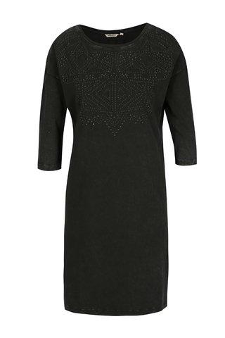 Rochie bluza neagra cu aplicatie - Garcia Jeans