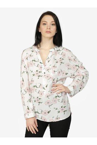 Bluza crem cu print floral si maneci ajustabile - Haily's Florie