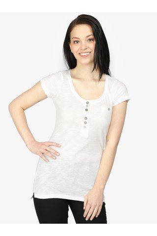 Tricou alb cu nasturi decorativi - Haily's Edda