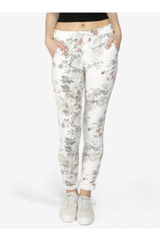 Pantaloni sport crem cu print floral - Haily's Jada