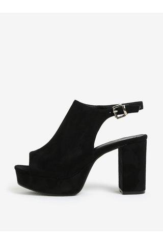 Černé sandály na platformě MISSGUIDED