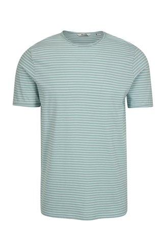 Světle zelené pruhované tričko ONLY & SONS Albert Stripe