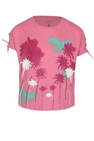 Růžové holčičí tričko s potiskem name it Veet
