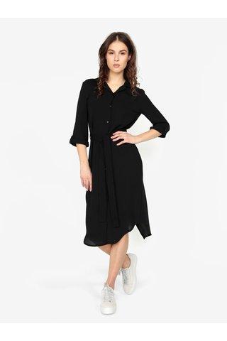 Černé košilové šaty s 3/4 rukávem MISSGUIDED