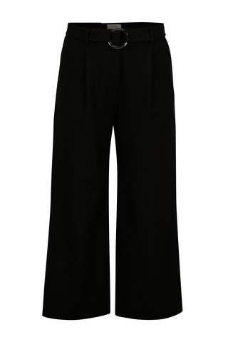 Černé cullotes kalhoty s vysokým pasem Selected Femme Aila