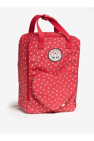 Červený puntíkovaný batoh/kabelka Blutsgeschwister