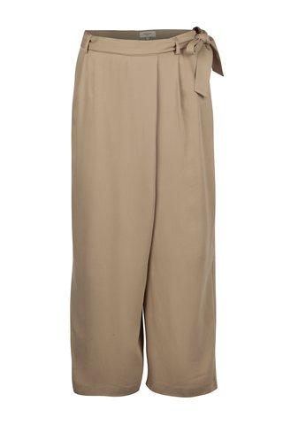 Béžové culottes kalhoty s vysokým pasem Selected Femme Cross