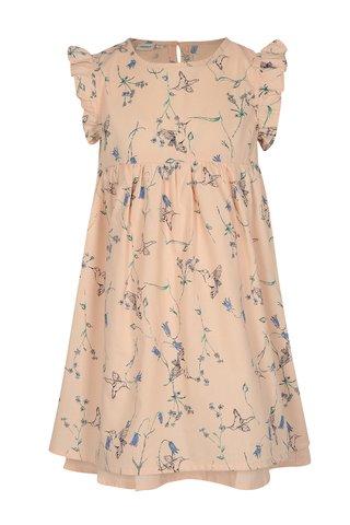 Světle růžové holčičí květované šaty name it Valaia