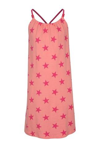 Růžové holčičí vzorované šaty name it Zathrine