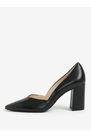 Pantofi negri de piele cu toc masiv - Högl