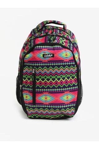 Zeleno-fialový vzorovaný batoh LOAP Lian 20 l