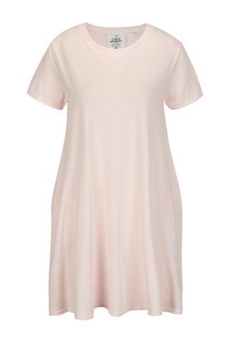 Rochie tricou roz pal din bumbac organic- Cheap Monday