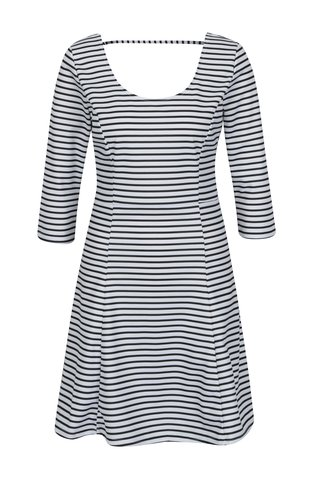 Černo-bílé pruhované šaty s 3/4 rukávem ONLY Esra