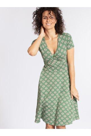 Zelené vzorované šaty Blutgeschwister