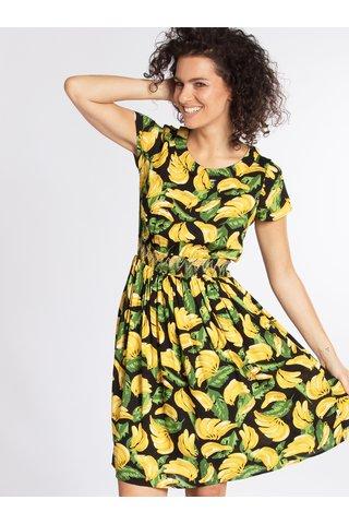 Žluto-černé vzorované šaty Blutgeschwister