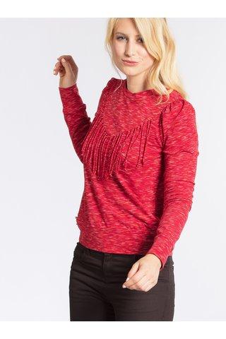Červené žíhané tričko s dlouhým rukávem Blutgeschwister