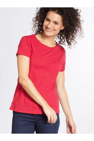 Červené vzorované tričko Blutgeschwister