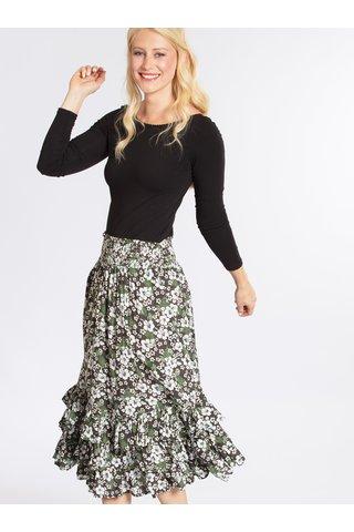 Zeleno-černá vzorovaná sukně Blutgeschwister