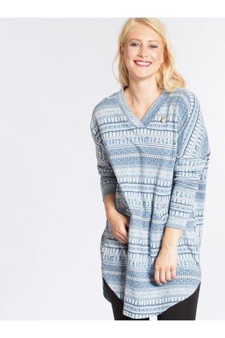 Krémovo-modré vzorované šaty Blutgeschwister