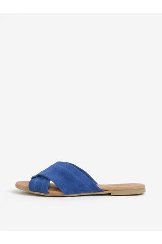Modré semišové sandály Pieces Marnie