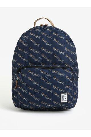 Tmavě modrý batoh s barevným potiskem The Pack Society  18 l