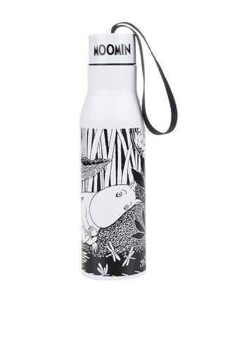 Termos alb & negru cu print - Disaster Moomin Midwinter
