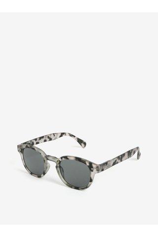 Šedé vzorované unisex sluneční brýle IZIPIZI #C