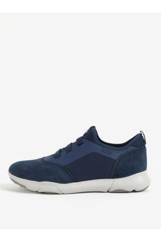 Pantofi sport albastri cu piele intoarsa pentru barbati Geox Nebula S