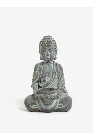 Suport gri pentru lumanari in forma de statuie Budha SIFCON