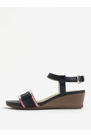 Modré sandály na klínku Geox Mary Karmen