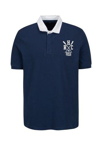 Tricou polo bleumarin cu logo brodat - Hackett London