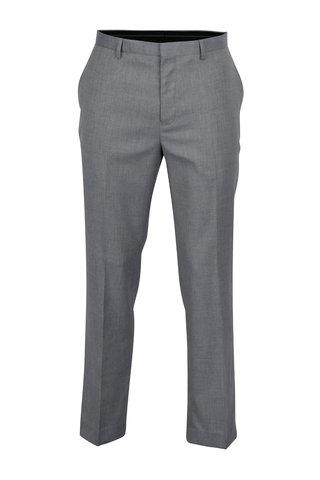 Šedé pánské oblekové kalhoty Burton Menswear London