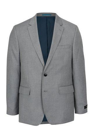 Šedé pánské oblekové tailored fit sako Burton Menswear London
