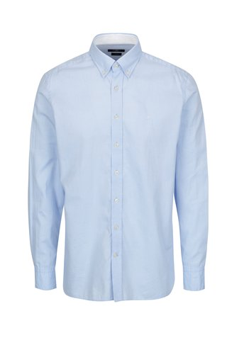 Camasa slim fit bleu cu guler button down - Hackett London Oxford