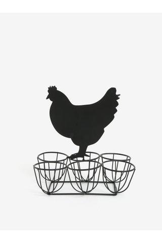 Suport negru metalic pentru oua - SIFCON