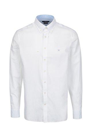 Camasa alba slim fit cu guler button down - London Oxford