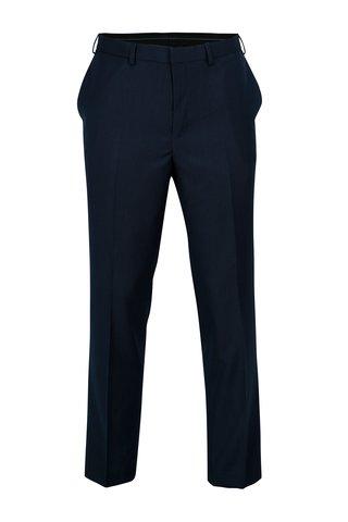 Tmavě modré pánské tailored fit kalhoty Burton Menswear London