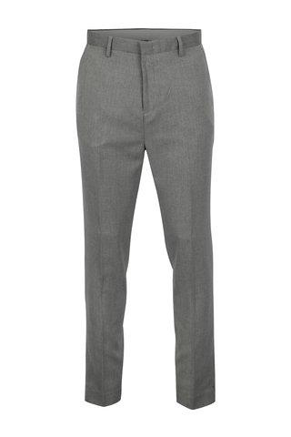 Šedé pánské tapered fit kalhoty Burton Menswear London