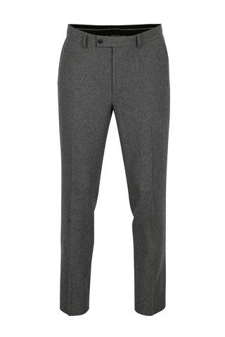 Tmavě šedé pánské skinny fit  vlněné kalhoty Burton Menswear London