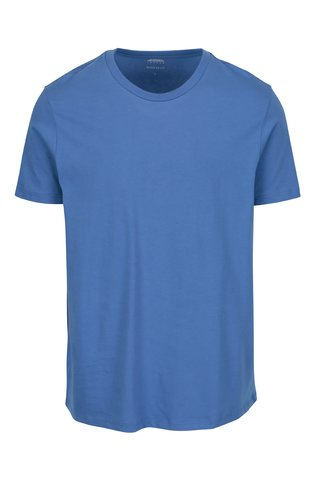Tricou basic albastru regular fit - Burton Menswear London